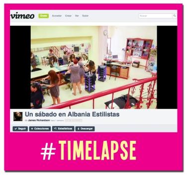#Timelapese: Así es un sábado en Albania Estilistas