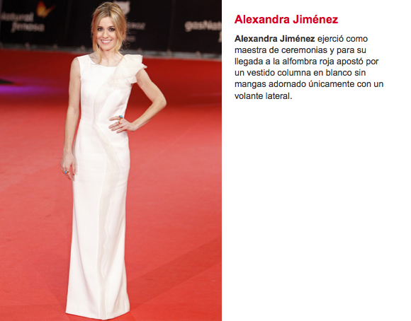 Alexandra Jiménez Albania Estilistas Premios Feroz