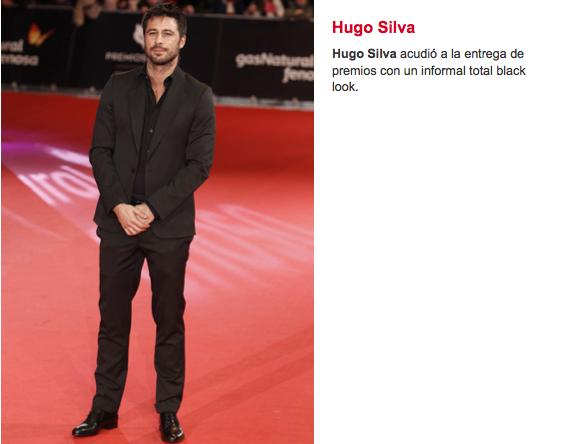 Hugo Silva Albania Estilistas Premios Feroz